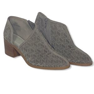 1.State Iddah Perforated Suede Booties